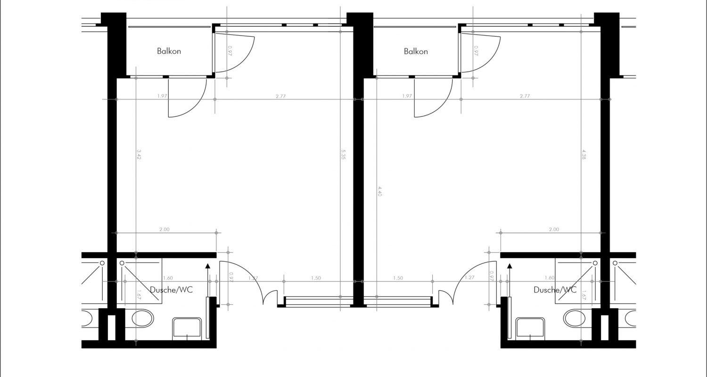 Grundriss Zimmer Haus Mürtschen - Ost-Trakt